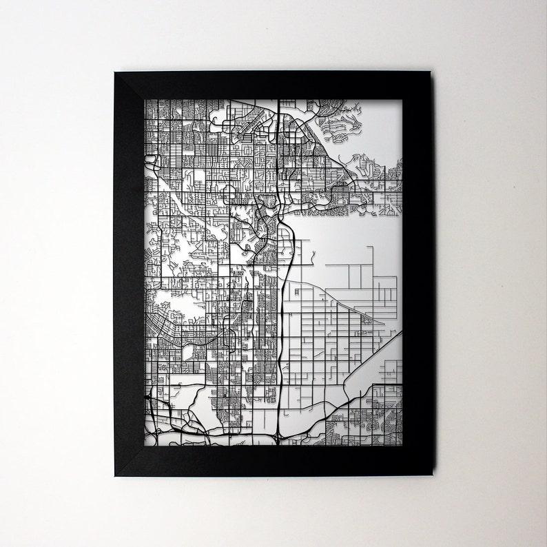 Scottsdale Arizona Laser Cut Map, Scottsdale AZ Street Map, Map of  Scottsdale, Scottsdale Wall Art, Scottsdale Gift, Scottsdale Decor