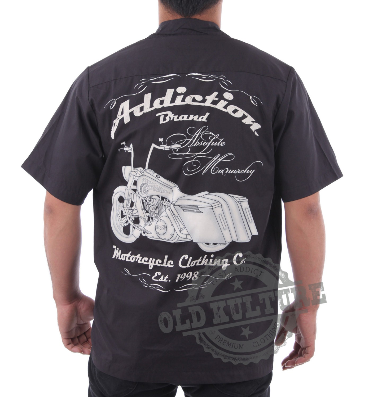 Custom Motorcycle Work Shirts   Kuenzi Turf & Nursery