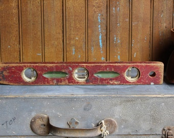 Antique Wood Level Etsy