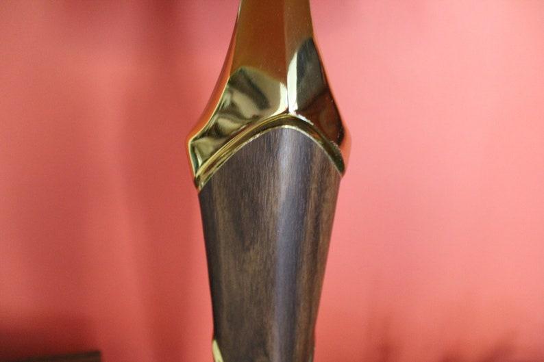 Tall Mid-century Brass Lamp Large 39 12 Midcentury Maurizio Tempestini Brass /& Walnut Lamp with Drum Shade Danish Style MCM Table Lamp