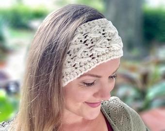 Astrid Headband   One Skein Wonder   Beginner Crochet Pattern   Yarn Bee