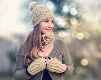 Fuzzy Bee Winterset, Crochet Winterset - Crochet Pattern - Crochet Winter Set Pattern