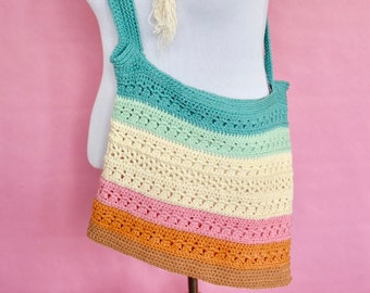 More than a Market Bag - Easy Crochet Pattern for Beginners, Crochet Market Bag Pattern, Colorful Market Bag, Market Bag Crochet Pattern