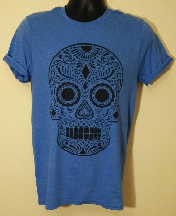 e8cbd8829d On Sale SUGAR SKULL T-SHIRT Day of the Dead Sugar Skull tee | Etsy