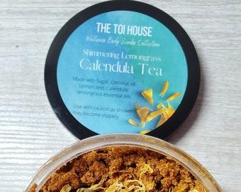 Shimmering Lemongrass Calendula Tea Body Scrub