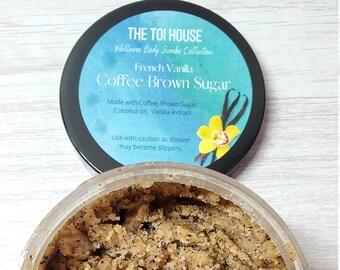 French Vanilla Coffee Brown Sugar Body Scrub