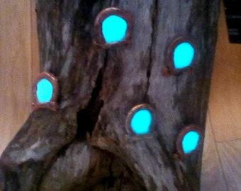 5 x Miniature Magical glow in the dark Windows for fairy Door, Garden,Terrarium Light's for Children's Room- Cos Play educational Toy's