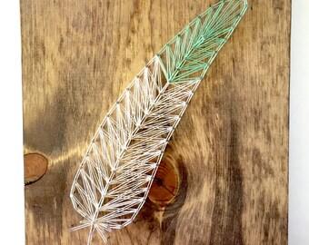 Lost Boy Feather String Art
