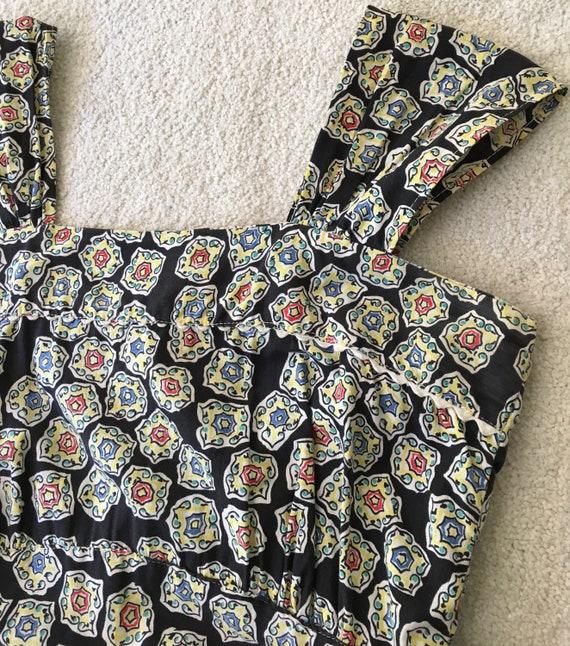 Vintage 1930s cotton dress/30s 40s 1940s dress/ap… - image 3
