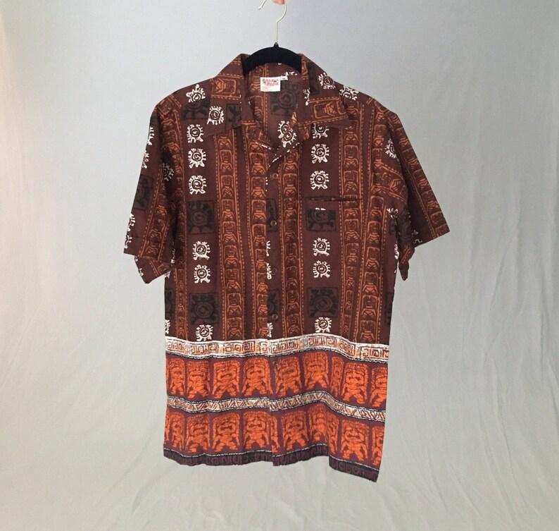 48ed3d91 Men Vintage 50s Hawaiian shirt men S small 38 M 40/cotton | Etsy