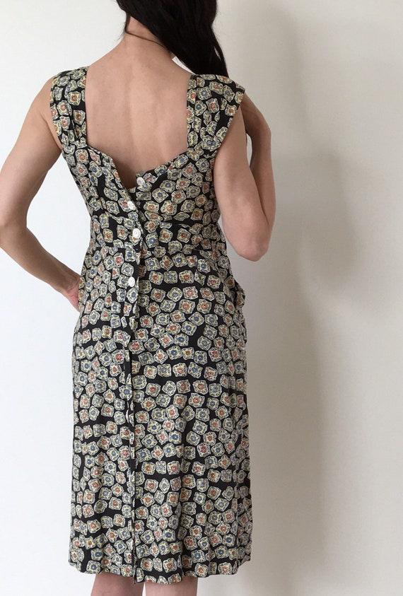 Vintage 1930s cotton dress/30s 40s 1940s dress/ap… - image 4