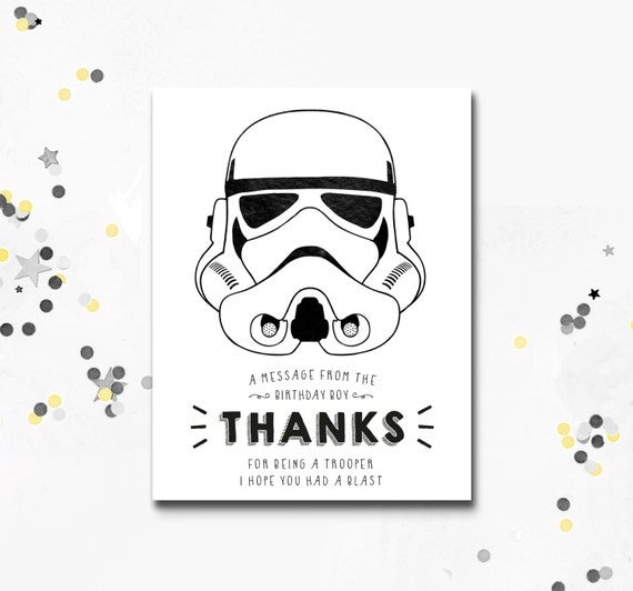 photo regarding Stormtrooper Printable identify Stormtrooper Thank Your self Card, Star Wars printable Card, Darth Vader Bash, Star Wars Bash, Thank Oneself Card, Fast Down load, Motif Images