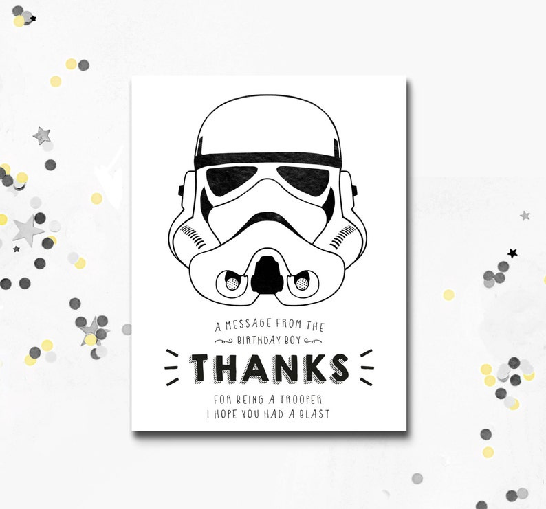 picture about Star Wars Printable Cards named Stormtrooper Thank Oneself Card, Star Wars printable Card, Darth Vader Social gathering, Star Wars Social gathering, Thank Oneself Card, Immediate Down load, Motif Photographs