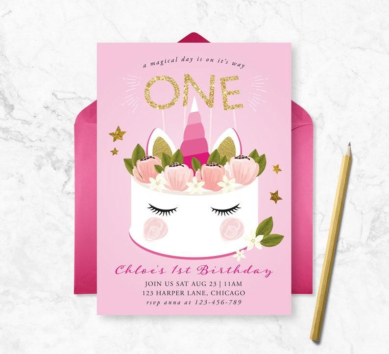 magical invite unicorn Invitation girls birthday invitation glitter unicorn Unicorn Birthday invitation magical birthday unicorn party
