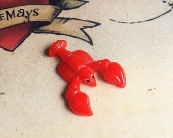 Lobster Brooch, 50s 60s Style Novelty Brooch, Bakelite Inspired, Rockabilly, Pin Up, Tropical Pin By RosieMays
