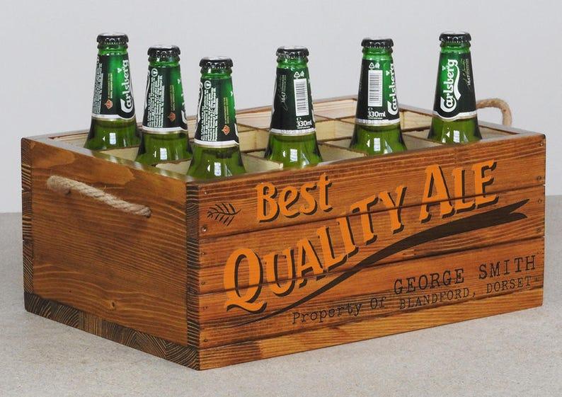 Wooden Beer Box