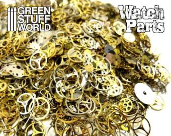 Set 40gr. - WATCH PARTS Mechanisms Mix -  sizes 1-12mm -  Steampunk set - 1.000 Real Watch pieces
