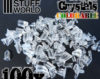 Resin Crystals transparent colorable - for Miniature Bases Warhammer Model Scenery Landscape resin ink