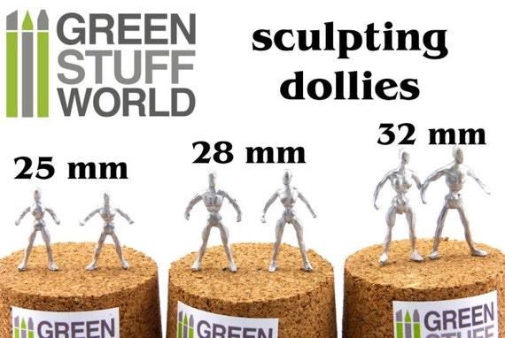 1:50 scale Craft Modelling Artist Figure Flexible Metal Armatures in 28 mm