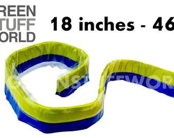 Green Stuff Putty 18 inches (46cm) - Modeller Epoxy Putty - Kneadatite Blue Yellow Duro