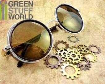 Retro SteamPunk GOLD Goggles - Brown Frame - Vintage