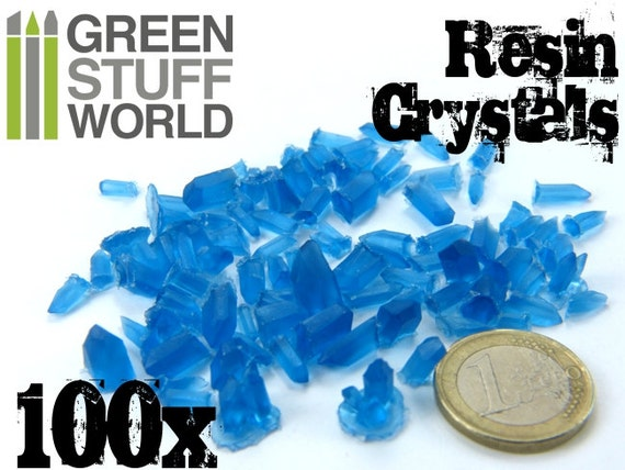Warhammer Age Of Sigmar 40K Large Transparent Blue Resin Crystals For Basing