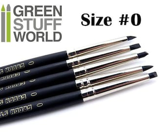 Colour Shaper - Size #0 Black - Clay shapers Set - Silicon Brushes - Green Stuff Tool