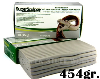 Super Sculpey MEDIUM blend - 1 pound (454gr.) Oven Bake Sculpting Polymer Clay