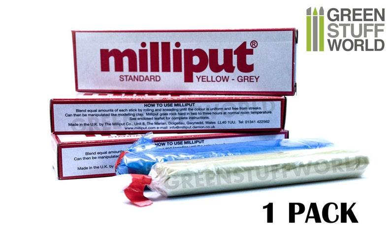 Milliput Standard - Epoxy Putty 4oz (113 4 g) - Modeller Epoxy Putty
