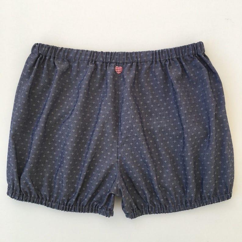 Greyish Blue with small white motives-Yogabloomer-Bloomer-Beach-Shorts Yogashorts Iyengar Yoga