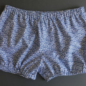 Handmade in South Africa with Love! Bloomer shorts 100/% cotton Blue