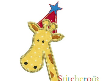 Party Giraffe Applique Design