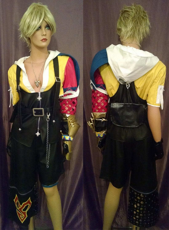 Anime Final Fantasy X FF10 Tidus Cosplay Costume Vest Pants Full