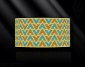 peyote bracelet pattern, peyote pattern, peyote stitch, Miyuki Delica pattern, pdf pattern, beading bracelet tutorial - Arrows
