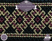 Netting pattern, 18k gold collection - huichol pattern 1