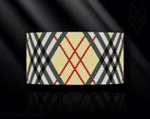 peyote bracelet pattern, even count peyote, peyote stitch, Toho Round pattern, pdf pattern, beading bracele tutorial - Scottish tartan