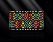 peyote bracelet pattern, peyote pattern, peyote stitch, Miyuki Delica pattern, pdf pattern, beading bracelet tutorial - Fish