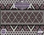 Netting pattern, Violet - netting pattern, huichol pattern