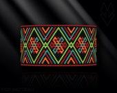 peyote bracelet pattern, peyote pattern, peyote stitch, Miyuki Delica pattern, pdf pattern, beading bracelet tutorial - Boho
