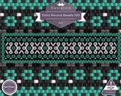 Netting pattern, Aqua - n...