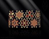 peyote bracelet pattern, odd peyote, peyote stitch, Toho Round pattern, pdf pattern, beading bracelet tutorial - Patriotic Vintage Stars