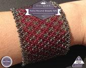 Netting pattern, Claret huichol bracelet pattern