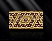 peyote bracelet pattern, odd count peyote pattern, peyote stitch, Toho Round pattern, pdf pattern, beading bracelet tutorial - Magic Rhombus