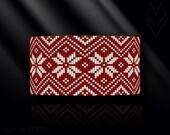 loom bracelet pattern, loom bracelet, loom stitch, Toho Round pattern, pdf pattern, beading bracelet, beading tutorial - Nordic