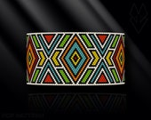 peyote bracelet pattern, odd count peyote pattern, peyote stitch, Toho Round pattern, pdf pattern, beading bracelet tutorial - Ethnic art