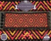 Netting pattern, Flaming huichol bracelet pattern