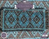 Netting pattern, Blue Lagoon huichol bracelet pattern
