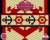 Nautical peyote bracelet ...