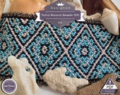 Netting pattern, Romantic huichol bracelet pattern
