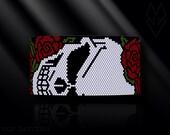 peyote bracelet pattern, even count peyote pattern, peyote stitch, Toho Round pattern, pdf pattern, beading bracele tutorial - Skull & roses